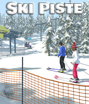 Ski Piste for Poser 3D Models 2nd_World