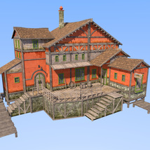 Big red house for Daz Studio image 1
