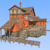 Big red house for Daz Studio image 2