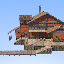 Big red house for Daz Studio image 4