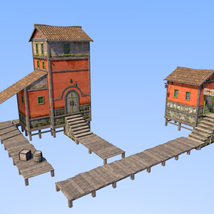 Big red house for Daz Studio image 5