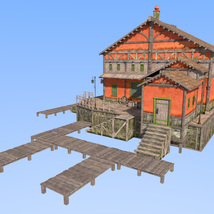 Big red house for Daz Studio image 7