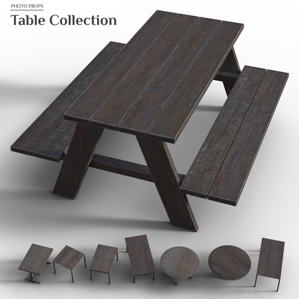 Photo Props: Table Collection - Extended License by ShaaraMuse3D