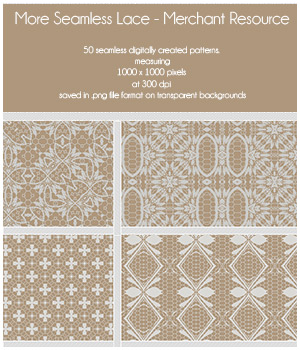 More Seamless Lace - Merchant Resource 2D Graphics Merchant Resources adarling97