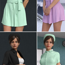 dForce Nurse Clothing and poses for G8F image 1