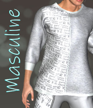 DA-Masculine for Sweater for LHomme 3D Figure Assets La Femme Pro - Female Poser Figure DarkAngelGrafics