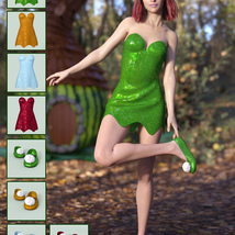 Leafy Dress for Genesis 8 Female image 5