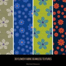 30 Flower Fabric Seamless Textures image 1