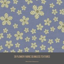 30 Flower Fabric Seamless Textures image 3