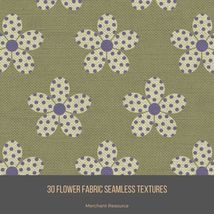 30 Flower Fabric Seamless Textures image 4