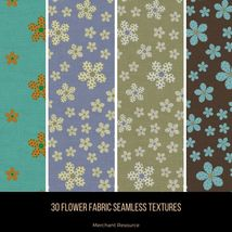 30 Flower Fabric Seamless Textures image 5