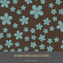 30 Flower Fabric Seamless Textures image 6