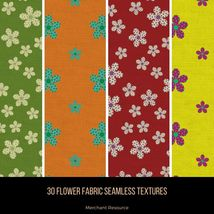 30 Flower Fabric Seamless Textures image 7
