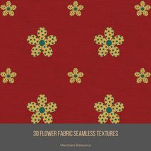 30 Flower Fabric Seamless Textures image 8