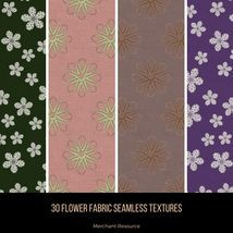 30 Flower Fabric Seamless Textures image 9