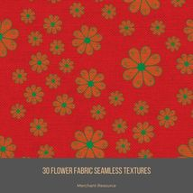 30 Flower Fabric Seamless Textures image 11