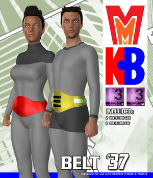 Belt 037 MMKBG3 3D Figure Assets MightyMite