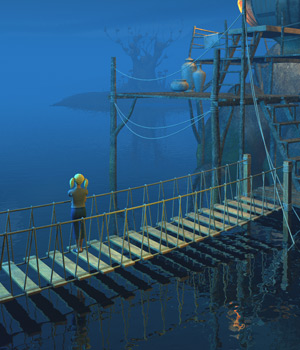 Four hanging bridges for Daz Studio 3D Models 1971s
