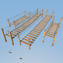 Four hanging bridges for Daz Studio image 1
