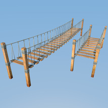Four hanging bridges for Daz Studio image 2
