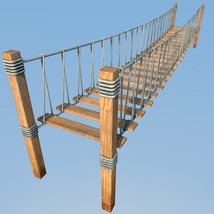 Four hanging bridges for Daz Studio image 3