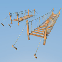 Four hanging bridges for Daz Studio image 4