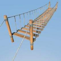 Four hanging bridges for Daz Studio image 5