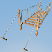 Four hanging bridges for Daz Studio image 6