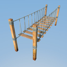 Four hanging bridges for Daz Studio image 7