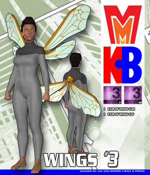 Wings 003 MMKBG3 3D Figure Assets MightyMite