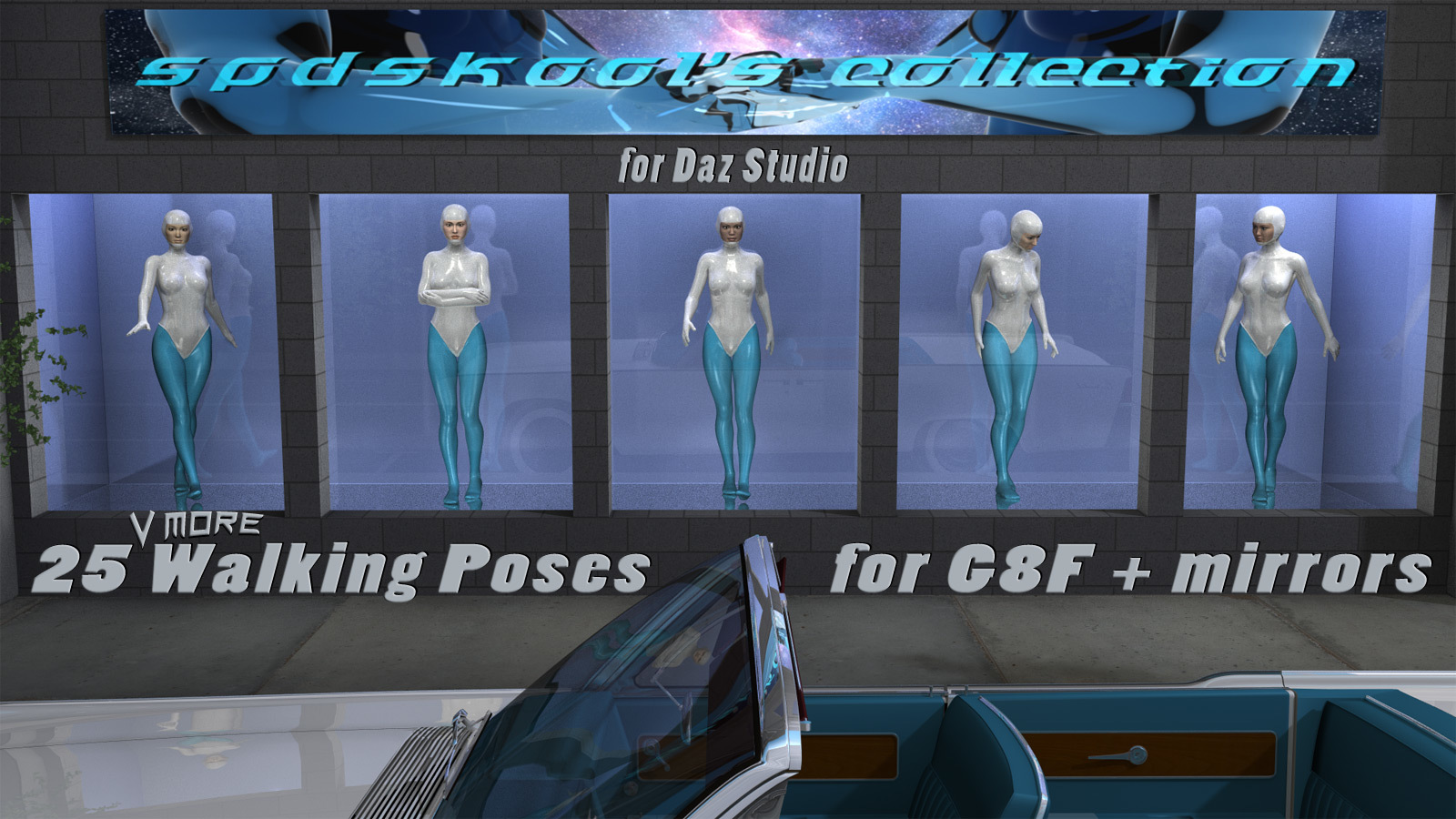 25 more Walking Poses for G8F