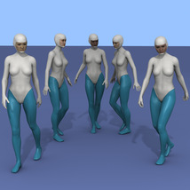 25 more Walking Poses for G8F image 1