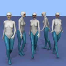 25 more Walking Poses for G8F image 2