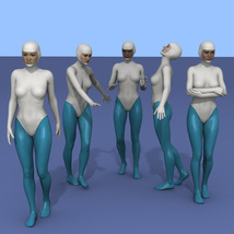 25 more Walking Poses for G8F image 3