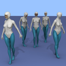 25 more Walking Poses for G8F image 4