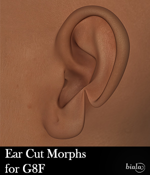 Ear Cut Morph for G8F 3D Figure Assets biala
