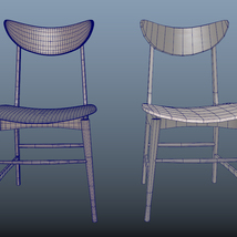 Scandinavian Design Chair 70 - Photoscanned PBR - Extended License image 7