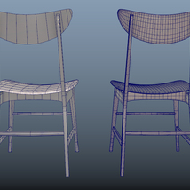 Scandinavian Design Chair 70 - Photoscanned PBR - Extended License image 8