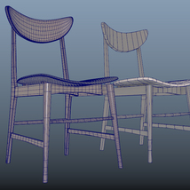 Scandinavian Design Chair 70 - Photoscanned PBR - Extended License image 11