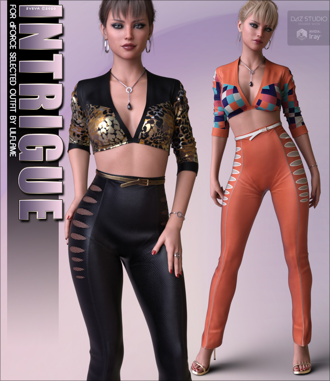 Intrigue for dForce Selected Outfit G8F by Sveva