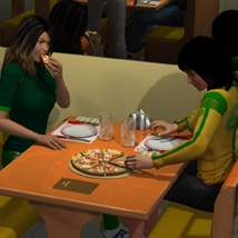 The Mall Pizza Hot Poses image 3