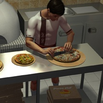 The Mall Pizza Hot Poses image 4