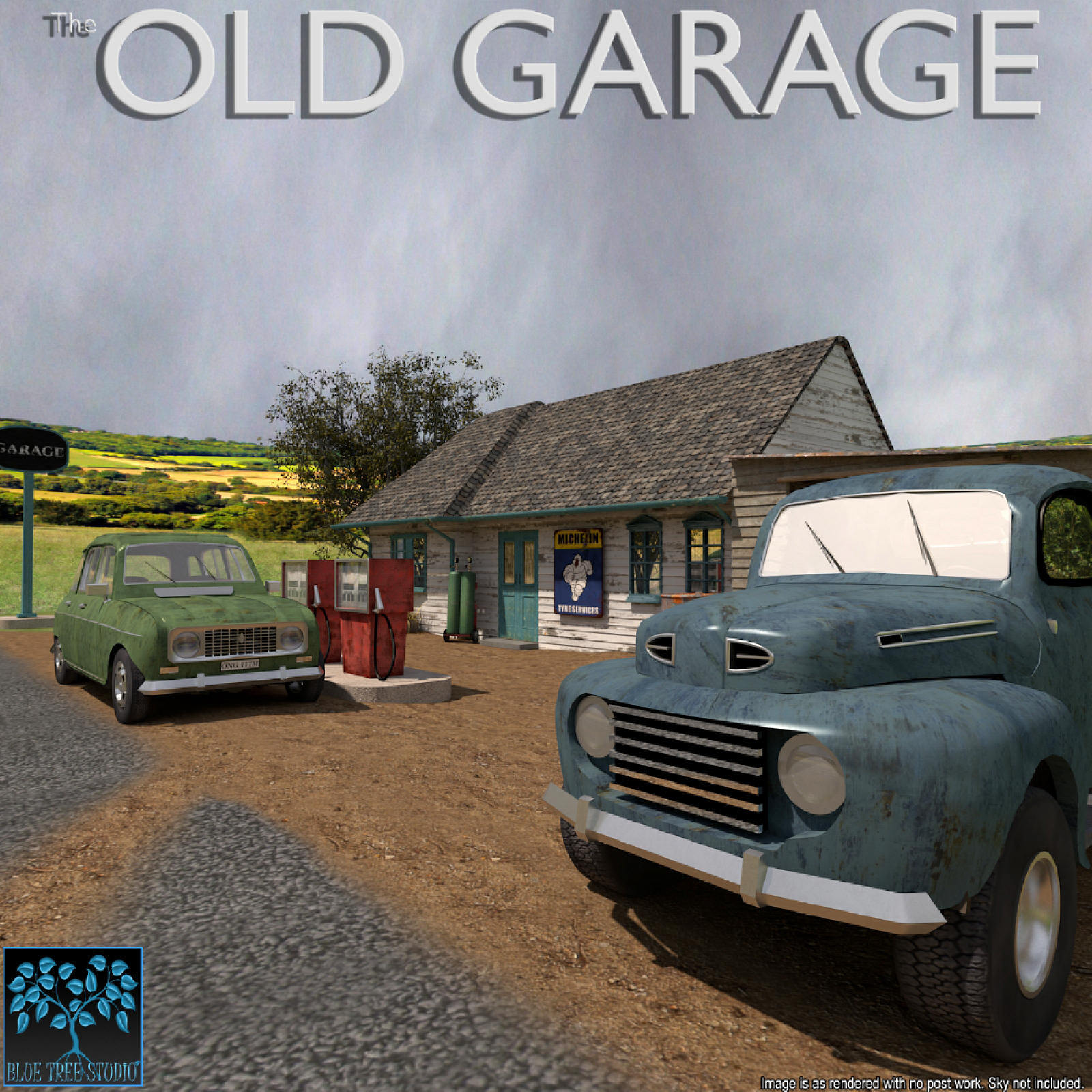 Old Garage for Poser by BlueTreeStudio