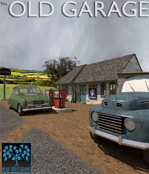 Old Garage for Poser 3D Models BlueTreeStudio