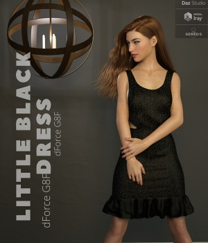 Nelmi - dForce Little Black Dress G8F 3D Figure Assets nelmi