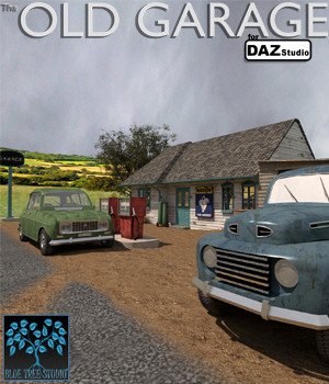 Old Garage for Daz Studio 3D Models BlueTreeStudio