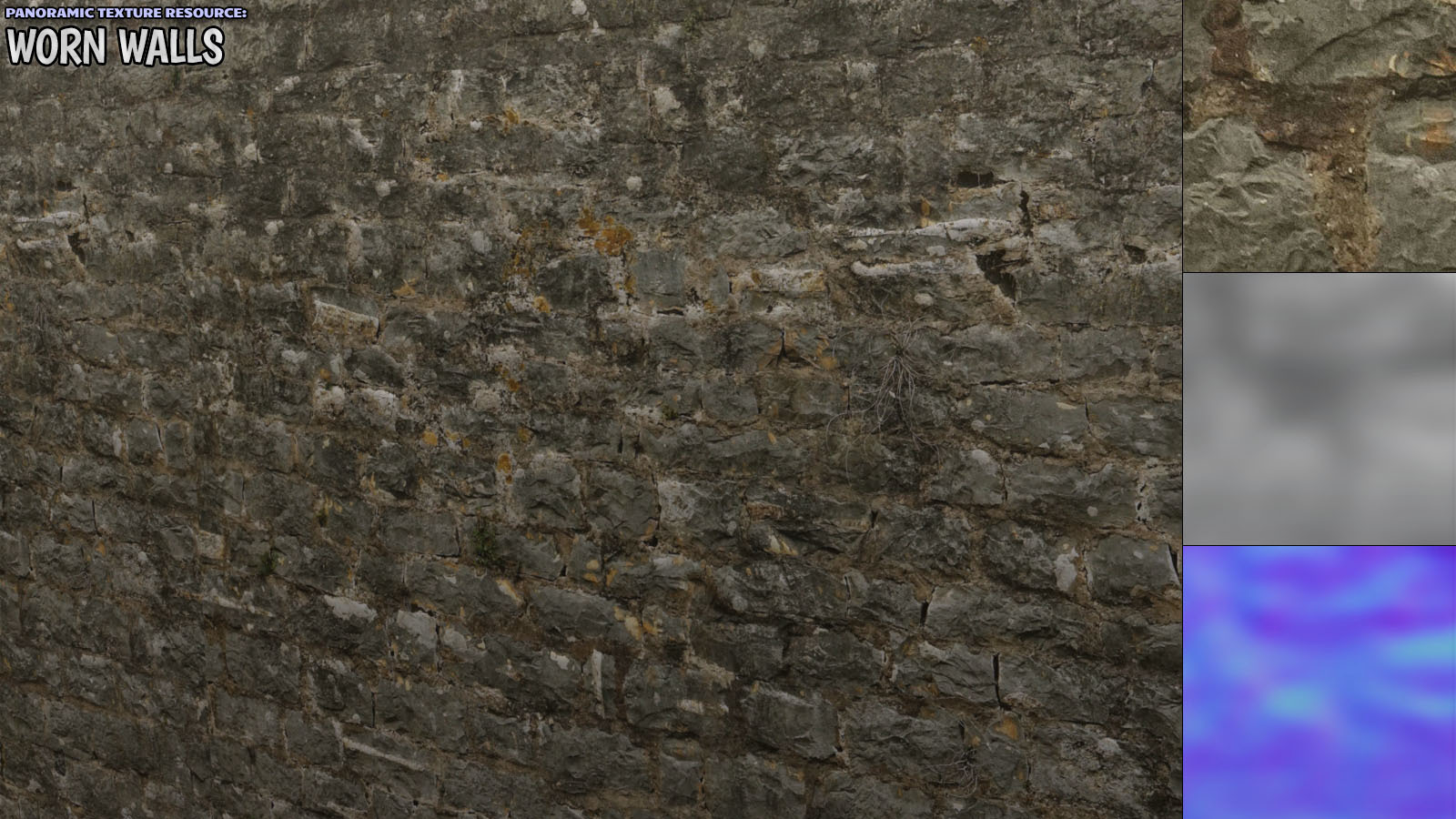 Panoramic Texture Resource: Worn Walls - Extended License