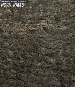 Panoramic Texture Resource: Worn Walls - Extended License 2D Graphics Extended Licenses Merchant Resources ShaaraMuse3D