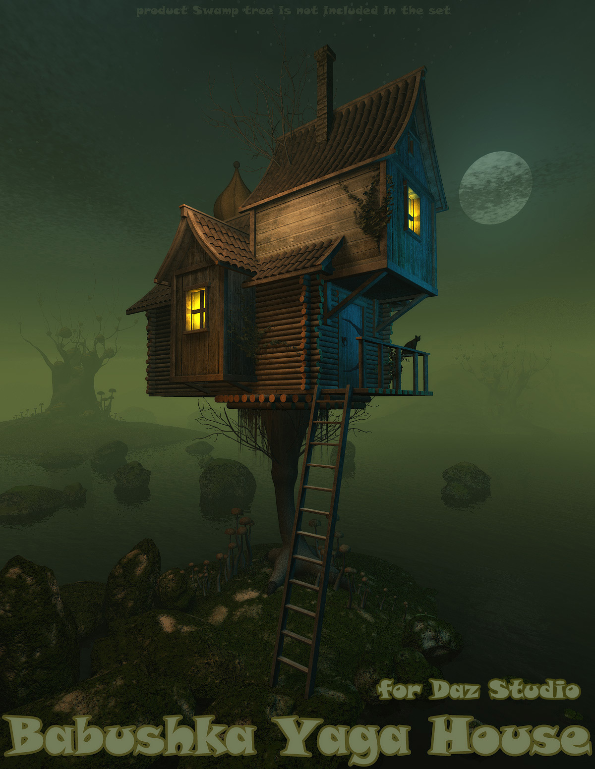 Babushka Yaga House for Daz Studio