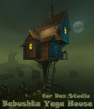 Babushka Yaga House for Daz Studio 3D Models 1971s